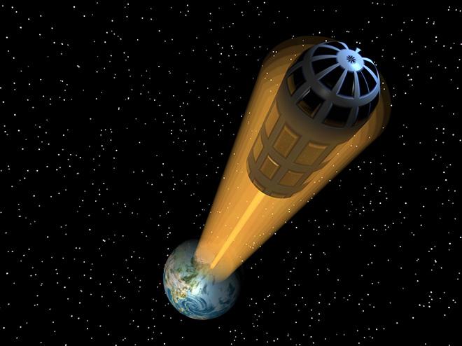 Как именно будет выглядеть космический лифт пока неизвестно. Так видит приспособление художник