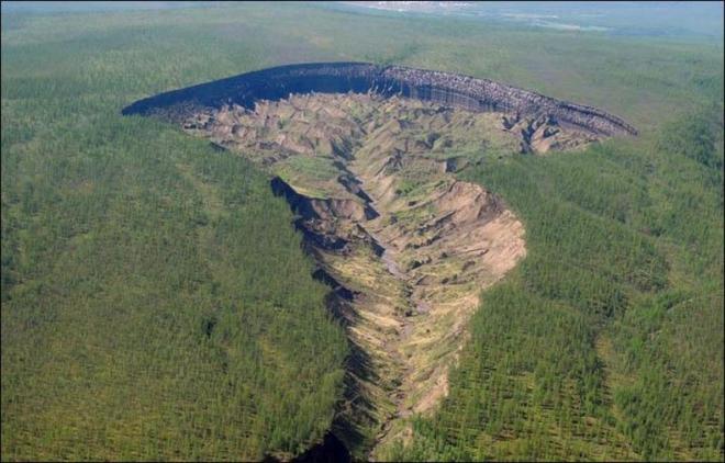 Картинки по запросу В Сибири растет «портал» в подземный мир