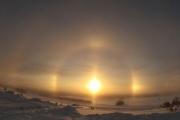 Редчайшее двойное солнечное гало на Аляске: фото