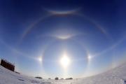 На Аляске возникло «алмазное» гало