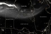 Получен черно-белый снимок северного сияния